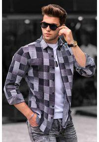 Wielokolorowa koszula IVET długa, z długim rękawem