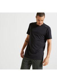 DOMYOS - Koszulka Fitness Domyos FTS 100. Materiał: materiał, poliester. Sport: fitness