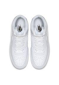 Buty damskie Nike Court Vision Mid CD5436. Materiał: guma, skóra, materiał, syntetyk. Szerokość cholewki: normalna. Wzór: jednolity, napisy. Sezon: lato, wiosna. Model: Nike Court. Sport: koszykówka