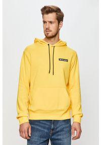 New Balance - Bluza. Okazja: na co dzień. Typ kołnierza: kaptur. Kolor: żółty. Materiał: dzianina. Styl: casual