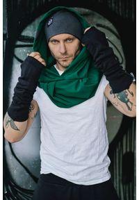 Zielone nakrycie głowy Hultaj Polski w kolorowe wzory