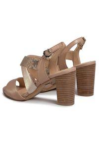 Beżowe sandały Caprice na co dzień, casualowe