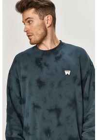Niebieska bluza nierozpinana Wrangler melanż, na co dzień, casualowa