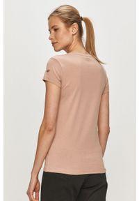 Różowa bluzka 4f z aplikacjami, casualowa, na co dzień