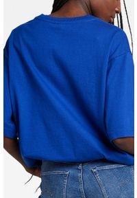G-Star RAW - G-Star Raw - T-shirt bawełniany x Snoop Dogg. Okazja: na co dzień. Kolor: niebieski. Materiał: bawełna. Wzór: nadruk. Styl: casual