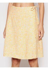 Żółta spódnica mini Samsoe & Samsoe