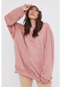 Answear Lab - Bluza bawełniana. Kolor: różowy. Materiał: bawełna. Długość rękawa: długi rękaw. Długość: długie. Styl: wakacyjny