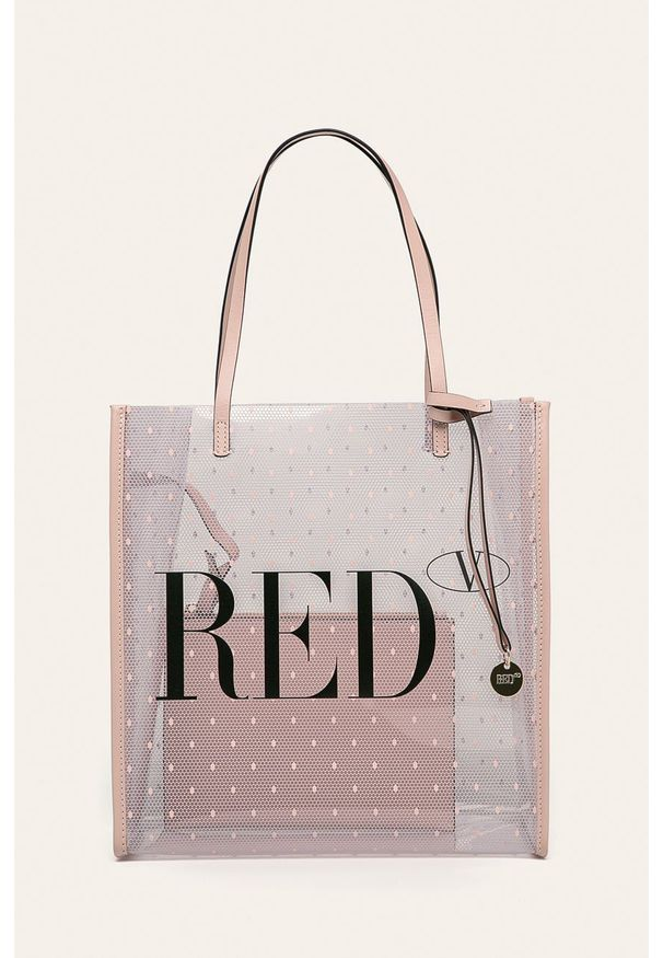 Shopperka Red Valentino na ramię, duża