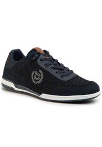 Bugatti - Sneakersy BUGATTI - 321-72605-6900 Dark Blue 4100. Okazja: na co dzień. Kolor: niebieski. Materiał: materiał. Szerokość cholewki: normalna. Styl: elegancki, sportowy, casual