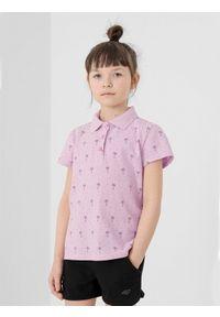 Różowy t-shirt 4f