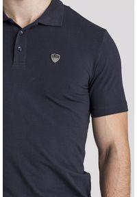 Koszulka polo EA7 Emporio Armani polo, sportowa, w jednolite wzory