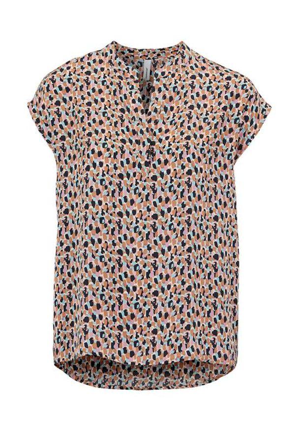 Soyaconcept Satynowa bluzka we wzory. Odiana beżowy we wzory female beżowy/ze wzorem M (40). Kolor: beżowy. Materiał: satyna. Długość rękawa: krótki rękaw. Długość: krótkie