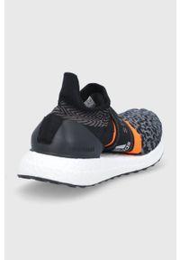 Adidas by Stella McCartney - Buty aSMC UltraBOOST 3D. Kolor: czarny. Materiał: guma. Model: Adidas Stella McCartney