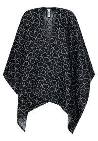 Czarne ponczo Calvin Klein