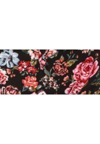 TOP SECRET - Wiskozowa sukienka w kwiaty. Kolor: czarny. Materiał: wiskoza. Wzór: kwiaty. Typ sukienki: koszulowe
