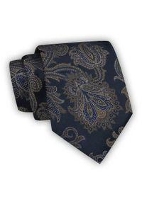 Chattier - Krawat Męski, Granatowy, Kwiaty, Klasyczny, Szeroki 8 cm, Elegancki -CHATTIER. Kolor: niebieski. Materiał: tkanina. Wzór: kwiaty. Styl: klasyczny, elegancki