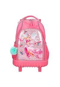 Fantasy Model Wózek szkolny Top Model, Różowy, wróżka i kolibry, z cekinami, mentolową pompką i zawieszką z kolibrem. Kolor: różowy