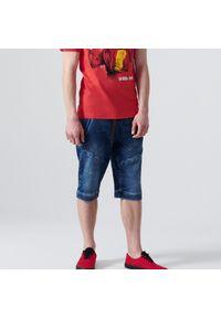 Cropp - Jeansowe szorty typu jogger - Niebieski. Kolor: niebieski. Materiał: jeans