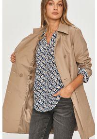 Beżowy płaszcz MAX&Co. bez kaptura, na co dzień, gładki