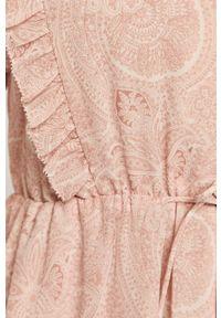 Różowy kombinezon AllSaints na co dzień, z długim rękawem