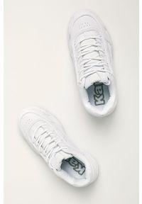 Białe buty sportowe Kappa na sznurówki, z cholewką