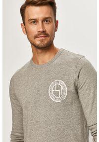 Szara bluza nierozpinana PRODUKT by Jack & Jones z okrągłym kołnierzem, z nadrukiem