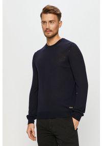 Niebieski sweter Baldessarini casualowy, na co dzień, z długim rękawem