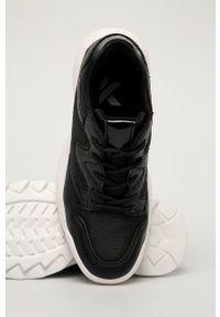 Czarne buty sportowe Answear Lab na sznurówki, na obcasie