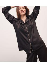 Milky Koszula Od Piżamy Z Jedwabiu - S - Czarny - Etam. Kolor: czarny. Materiał: jedwab. Długość: długie