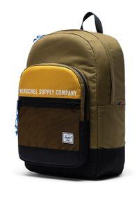 Żółty plecak Herschel z nadrukiem