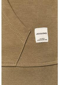 Oliwkowa bluza rozpinana Jack & Jones casualowa, z kapturem, na co dzień