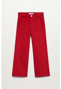 Czerwone jeansy Mango Kids z podwyższonym stanem, casualowe, na co dzień