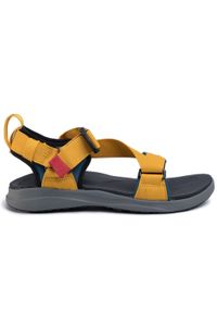 Żółte sandały trekkingowe columbia na lato