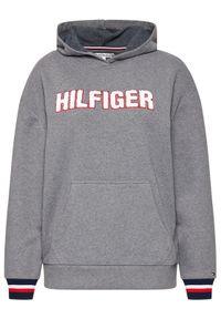 TOMMY HILFIGER - Tommy Hilfiger Bluza Oh Hoodie UW0UW02530 Szary Regular Fit. Kolor: szary