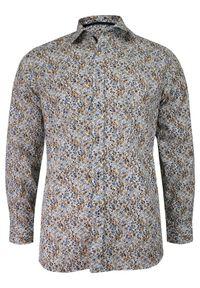 Elegancka koszula Grzegorz Moda Męska w kwiaty, długa, z długim rękawem