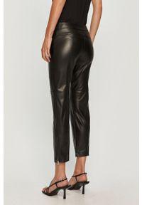 Czarne spodnie materiałowe Patrizia Pepe na co dzień, casualowe, z podwyższonym stanem