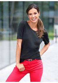 Czarny sweter bonprix z krótkim rękawem, krótki