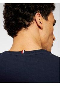 Lacoste T-Shirt TH0139 Granatowy Slim Fit. Kolor: niebieski