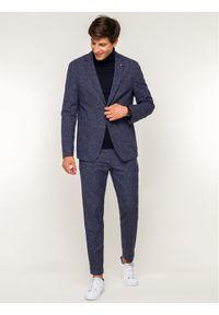 TOMMY HILFIGER - Tommy Hilfiger Tailored Marynarka TT0TT05523 Granatowy Slim Fit. Kolor: niebieski