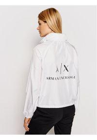 Biała kurtka przejściowa Armani Exchange
