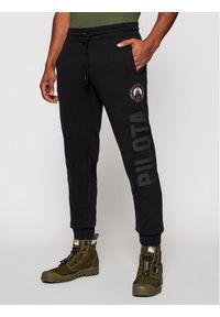 Czarne spodnie dresowe Aeronautica Militare