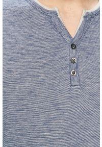 Niebieska koszulka z długim rękawem Tom Tailor na co dzień, casualowa