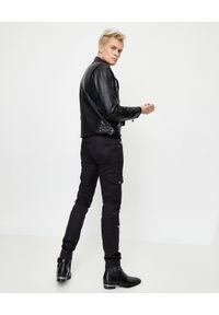 Alexander McQueen - ALEXANDER MCQUEEN - Skórzana ramoneska. Kolor: czarny. Materiał: skóra. Styl: elegancki