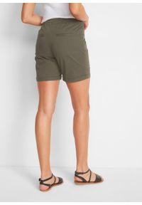 Zielone spodnie bonprix krótkie