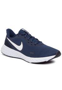 Niebieskie buty do biegania Nike Nike Revolution, z cholewką