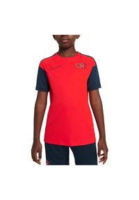 Koszulka piłkarska dla dzieci Nike Dri-Fit CR7 DA5595. Materiał: skóra, materiał, poliester. Technologia: Dri-Fit (Nike). Wzór: gładki, ażurowy. Sport: piłka nożna
