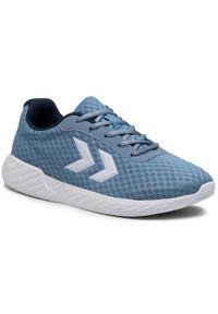 Niebieskie buty sportowe Hummel na co dzień, z cholewką