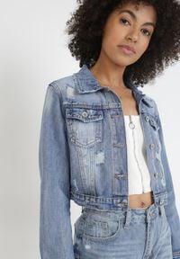 Born2be - Niebieska Kurtka Jeansowa Theamohsa. Kolor: niebieski. Materiał: jeans. Długość: długie. Styl: klasyczny