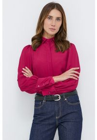 MAX&Co. - Koszula. Okazja: na co dzień. Kolor: fioletowy. Materiał: tkanina. Długość rękawa: długi rękaw. Długość: długie. Wzór: gładki. Styl: casual
