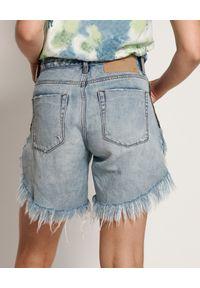 ONETEASPOON - Jeansowe spodenki Frankies. Stan: podwyższony. Kolor: niebieski. Materiał: jeans. Długość: długie. Wzór: nadruk, kolorowy, aplikacja